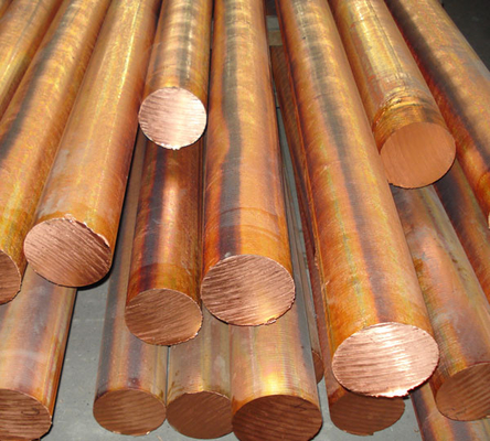 Red copper solid round bar / red copper bar dia 10 - 100mm C11000 C10200